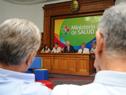 Jorge Basso y autoridades de Salud Pública en presentación de la guía