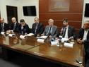 Conferencia de prensa de Danilo Astori junto a autoridades de Economía y Finanzas, Aduanas y despachantes