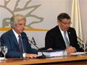 Conferencia de prensa encabezada por el presidente Tabaré Vázquez