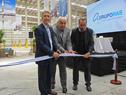 Corte de cinta inaugural del nuevo polo logístico del Grupo Ras en Puntas de Sayago