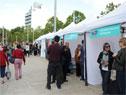 Actividad recreativa del Plan Ibirapitá en plaza Líber Seregni, en Montevideo