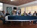 Ministro de Ganadería, Enzo Benech, junto a su equipo de trabajo, en Florida