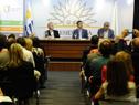 Ministro de Ganadería, Enzo Benech, haciendo uso de la palabra
