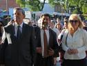 Canciller Rodolfo Nin Novoa, secretario de Derechos Humanos, Nelson Villarreal, y ministra Carolina Cosse