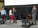 Secretario de Derechos Humanos, Nelson Villarreal, haciendo uso de la palabra