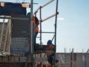 VIviendas de Mevir en construcción en Solís de Mataojo, Lavalleja