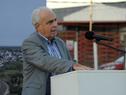 Ministro de Transporte y Obras Públicas, Víctor Rossi, haciendo uso de la palabra