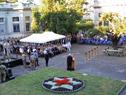 Llegada del Ministro de Defensa, Jorge Menéndez