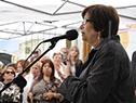 Ministra de Desarrollo Social, Marina Arismendi, haciendo uso de la palabra