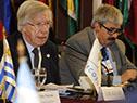 Ministro de Economía, Danilo Astori junto al subsecretario de Relaciones Exteriores, Ariel Bergamino