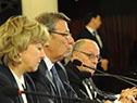 Veronika Nikishina y Rodolfo Nin Novoa firman memorando entre Mercosur y Comisión Económica Euroasiática