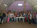 Beneficiarios en acto de entrega de viviendas de Mevir en Tala, Canelones