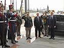 Llegada del presidente Tabaré Vázquez a la sede del Mercosur