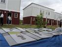 Finalización y entrega de nuevas viviendas del Plan Juntos en el barrio Hipódromo de Florida