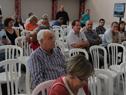 Ministro de Transporte y Obras Públicas, Víctor Rossi, presente en audiencia pública sobre proyecto ferroviario Montevideo-Paso de los Toros