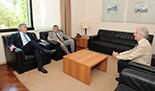 Tabaré Vázquez, Zurab Pololikashvili y embajador de Uruguay en España, Francisco Bustillo