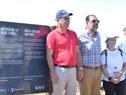 Intendente de Maldonado, Enrique Antía, y el subsecretario de Turismo, Carlos Fagetti