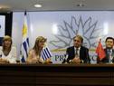 Celsa Puente, Andrea Vignolo, Fernando Cáceres, Dong Xiaojun y Julio César Maglione