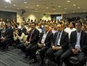 Acto de entrega de Pabellón Nacional en la sala de prensa de la Torre Ejecutiva