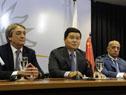 Fernando Cáceres, Dong Xiaojun y Julio César Maglione