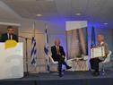 Daniel Zajfman, titular del instituto israelí, haciendo uso de la palabra