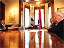 Presidente Tabaré Vázquez con autoridades de Gobierno y gremiales rurales