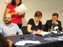 Autoridades presentes durante la firma de convenio