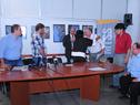 Autoridades al finalizar la firma del convenio