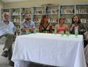 Subsecretaria del Ministerio de Desarrollo Social, Ana Olivera, junto a autoridades, haciendo uso de la palabra