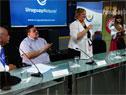 Autoridades en lanzamiento de 32.ª Fiesta de la Patria Gaucha