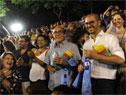Prosecretario Juan Andrés Roballo en desfile de LLamadas