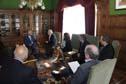 Presidente Tabaré Vázquez y el presidente ejecutivo de Arcos Dorados, Woods Staton