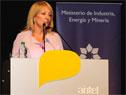 Ministra de Industria, Carolina Cosse, durante su exposición