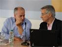 Ministro de Trabajo y Seguridad Social, Ernesto Murro, junto a experto de OIT, Andrés Marinakis