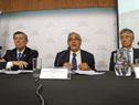 Rodolfo Nin Novoa, Enzo Benech y Tatsuhiro Shindo