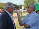 Ministro Enzo Benech, junto a Pablo Zerbino, presidente de la Asociación Rural del Uruguay (ARU)