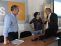 """Ministro Ernesto Murro junto al ministro Enzo Benech, al finalizar la conferencia: """"MTSS: de la historia agraria al presente"""""""