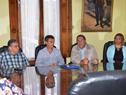 Autoridades de OPP durante la reunión celebrada en Paso de los Toros