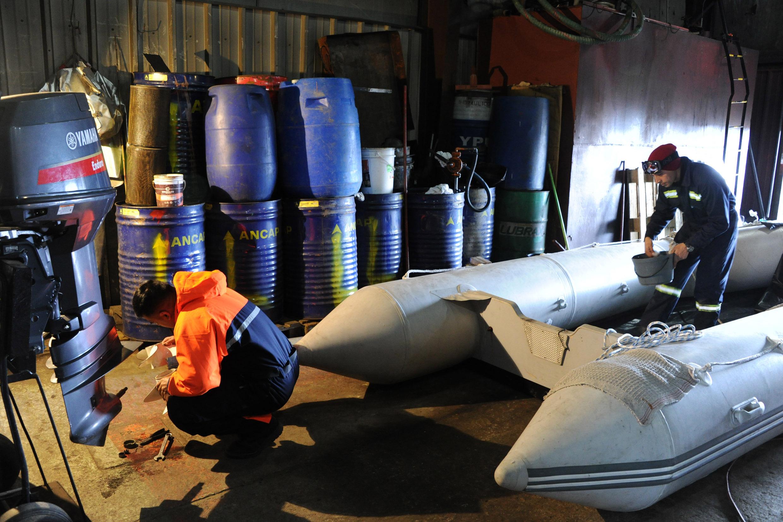 Interior de Base Artigas en Antártida