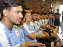 Entrega del Pabellón Nacional a la selección de fútbol sub-20