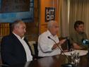 Director de Vialidad, Leonardo Cola, ministro Víctor Rossi y director de Hidrografía, Andrés Nieto