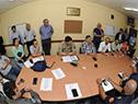 Prosecretario Juan Andrés Roballo reunido con integrantes del Centro Coordinador de Emergencias de Durazno