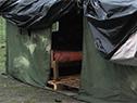 Campamento para desplazados de sus hogares por inundaciones en Durazno