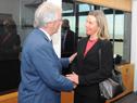 Presidente Tabaré Vázquez y autoridades recibieron a vicepresidenta y representante de Asuntos Exteriores de la Unión Europea, Federica Mogherini