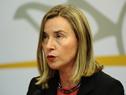 Conferencia de prensa del canciller Rodolfo Nin Novoa y Federica Mogherini, alta representante para Asuntos Exteriores de la Unión Europea
