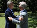 Presidente Tabaré Vázquez recibe a su par argentino, Mauricio Macri