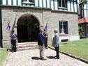 Presidentes Tabaré Vázquez y Mauricio Macri en la estancia oficial del Parque Aarón de Anchorena