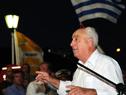 Ministro de Transporte y Obras Públicas, Víctor Rossi, haciendo uso de la palabra en acto de rehabilitación del sistema giratorio del puente histórico
