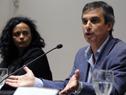 Conferencia dictada por Adriana Rovira, titular de Inmayores, y Álvaro García, director de la Oficina de Planeamiento y Presupuesto