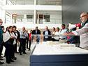 Ministro Jorge Basso y otras autoridades recorren instalaciones del nuevo edificio que albergará al hospital de Colonia